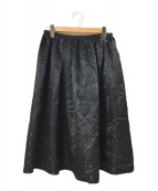 ()の古着「ステッチシャドードットロングスカート」|ブラック