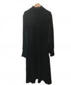 INTIMITE(アンティミテ)の古着「素材切替ニットワンピース」|ブラック