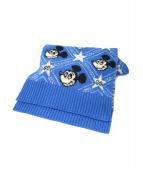 GUCCI(グッチ)の古着「ディズニーコラボマフラー」|ブルー