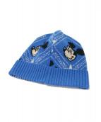 GUCCI(グッチ)の古着「ディズニーコラボニット帽」|ブルー