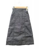 ()の古着「リネンスカート」|グレー