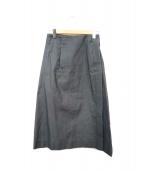 ()の古着「シルク混スカート」|グレー