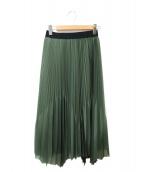 ()の古着「プリーツスカート」|グリーン