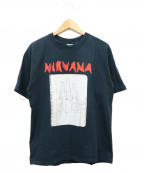 バンドTシャツ(バンドTシャツ)の古着「[古着]NIRVANA 00'sバンドTシャツ」 ブラック