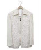 LUNAMATTINO(ルナマティーノ)の古着「刺繍ジャケット」|クリーム