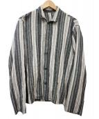 ()の古着「ストライプシャツ」|グレー