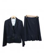 courreges(クレージュ)の古着「セットアップスーツ」|ネイビー