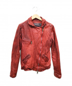 GIORGIO BRATO(ジョルジオ ブラッド)の古着「レザージャケット」 レッド
