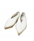 CELINE(セリーヌ)の古着「エスパドリーユ」 ホワイト