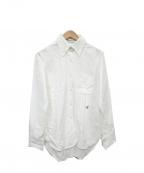 MADISON BLUE(マディソンブルー)の古着「ロゴ刺繍BDシャツ」 ホワイト