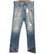 AG(エージー)の古着「ダメージ加工デニムパンツ」 ブルー