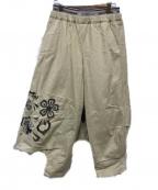 FRAPBOIS(フラボア)の古着「レイヤードクロップドパンツ」 ベージュ