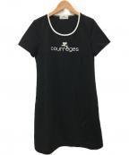 courreges(クレージュ)の古着「カットソーワンピース」|ブラック
