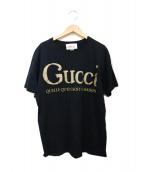 ()の古着「グリッターロゴTシャツ」|ブラック