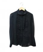 GUCCI()の古着「バンブーカフスブザムブラウス」|ブラック