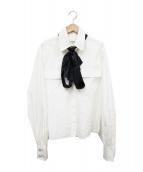 CHANEL(シャネル)の古着「リボン付ワークシャツ」|ホワイト