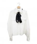 CHANEL()の古着「リボン付ワークシャツ」 ホワイト