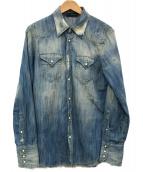 ()の古着「デニムシャツ」|スカイブルー