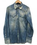 DSQUARED2(ディースクエアード)の古着「デニムシャツ」|スカイブルー
