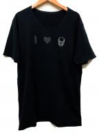 lucien pellat-finet(ルシアン・ペラフィネ)の古着「Tシャツ」|ブラック