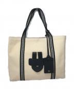 TILA MARCH(ティラマーチ)の古着「キャンバストートバッグ」 ナチュラル