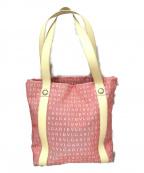 BVLGARI(ブルガリ)の古着「キャンバストートバッグ」 ピンク