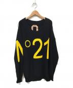 N°21(ヌメロヴェントゥーノ)の古着「ロゴ刺繍ニット」|ブラック