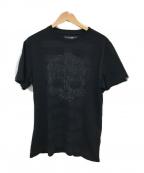 HYDROGEN(ハイドロゲン)の古着「スタッズスカルカットソー」 ブラック