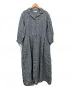 fog linen work(フォグリネンワーク)の古着「リネンシャツワンピース」 グレー