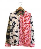 A BATHING APE(エイプ)の古着「クレイジーエイプカモパターンシャツ」|マルチカラー
