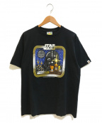 A BATHING APE(エイプ)の古着「コラボTシャツ」|ブラック