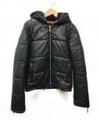 D&G(ドルチェ&ガッバーナ)の古着「レザー切替フーデッドジャケット」|ブラック