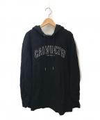 Calvin Klein Jeans(カルバンクラインジーンズ)の古着「ロゴフーディ」 ブラック