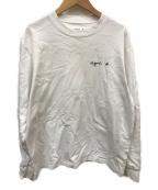 agnes b(アニエスベー)の古着「長袖Tシャツ」|ホワイト