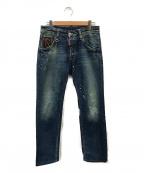DSQUARED2(ディースクエアード)の古着「鍵付きデニムパンツ」|ブルー