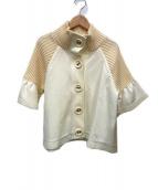 ()の古着「半袖ニットジャケット」|ホワイト