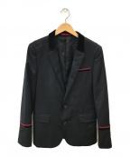 LOVELESS(ラブレス)の古着「ベロア切替テーラードジャケット」|ブラック