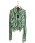 Jean Paul Gaultier homme(ジャンポールゴルチェオム)の古着「[OLD]シャーリングコルセットブルゾン」 グリーン