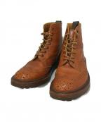 Tricker's(トリッカーズ)の古着「ウイングチップブーツ」 ブラウン