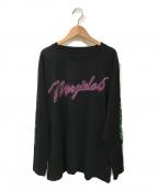 MM6 Maison Margiela(エムエムシックス メゾンマルジェラ)の古着「長袖カットソー」|ブラック
