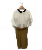 TOGA ARCHIVES(トーガアーカイブス)の古着「ドッキングワンピース」|ホワイト