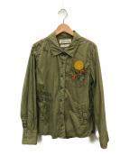 ()の古着「ミリタリーシャツ」|オリーブ