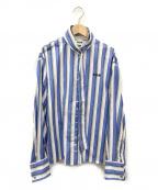MSGM(エムエスジーエム)の古着「ストライプシャツ」|スカイブルー