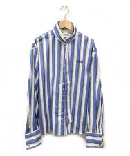 MSGM (エムエスジーエム) ストライプシャツ スカイブルー サイズ:38 イタリア製