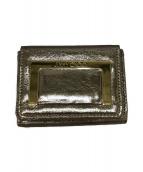 ()の古着「3つ折り財布」 ゴールド