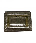 JIMMY CHOO(ジミーチュウ)の古着「3つ折り財布」|ゴールド