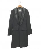 Lois CRAYON(ロイスクレヨン)の古着「チェスターコート」|ブラック