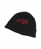 N゜21(ヌメロ ヴェントゥーノ)の古着「ニット帽」 ブラック