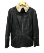 EPOCA(エポカ)の古着「ムートンジャケット」|ブラック