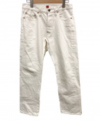 RESOLUTE()の古着「デニムパンツ」|ホワイト